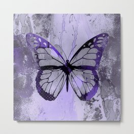 Abstract Butterfly Art Ultraviolett Colors Metal Print