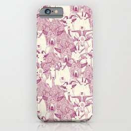 just goats cherry pearl iPhone Case