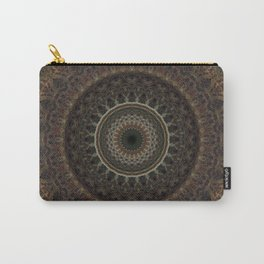 Mandala in brown tones Carry-All Pouch