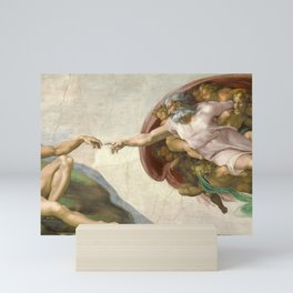 Michelangelo - Creation of Adam Mini Art Print