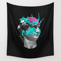 dave grohl Wall Tapestries featuring Dave Brain by Julien Missaire | CORSAC