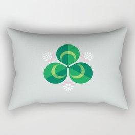 White Clover Rectangular Pillow