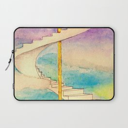 Fantasy Stairs Watercolor Laptop Sleeve