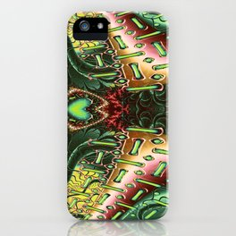 Marooned Symmetrical Abstract iPhone Case