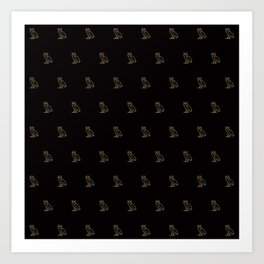 Classic Owl - Black Art Print