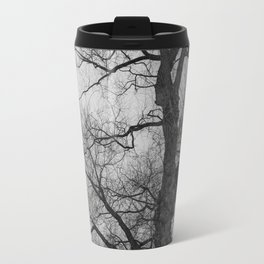 Nature Photography Weeping Willow | Lungs of the Earth | Black and White Travel Mug