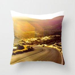 El Camino Dorado Throw Pillow
