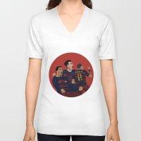 neymar V-neck T-shirts featuring MSN by siddick49