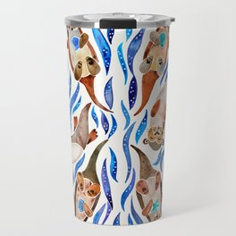Five Otters – Blue Palette Travel Mug