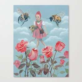 Rose walk Canvas Print