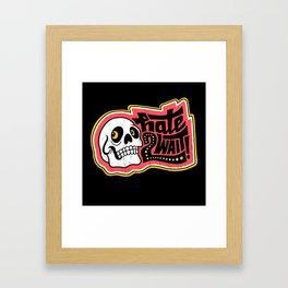 HATE 2 WAIT Framed Art Print