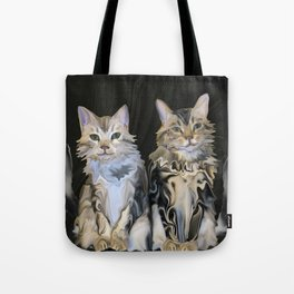 Marble Meows Tote Bag