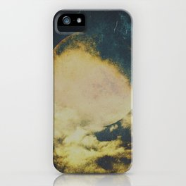 Golden moon iPhone Case