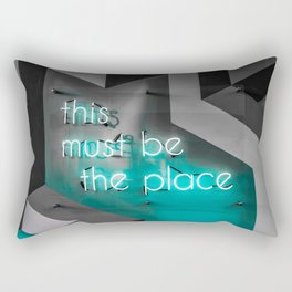 This must be the place / neon Rectangular Pillow