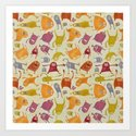 Watercolor Critter Pattern Alpha by nicalorber