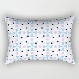 star and polka dot 6 - blue Rectangular Pillow