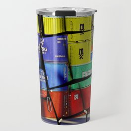 Colorful container wall board Travel Mug