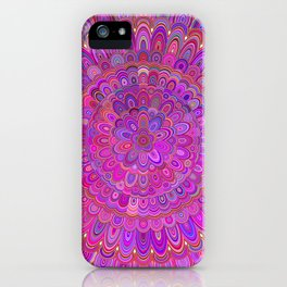 Happy Purple and Pink Mandala iPhone Case