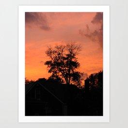 Treee on Fire Art Print