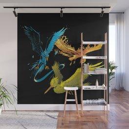 The Three Legendary Birds Wall Mural
