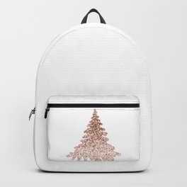 Sparkling christmas tree rose gold ombre Backpack