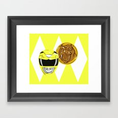 Yellow Ranger Framed Art Print
