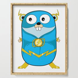 Golang - Iris Gopher Serving Tray