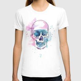 Abstract Skull Watercolor T-shirt
