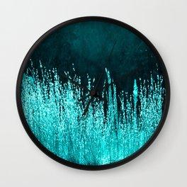 Grasses Aqua Wall Clock