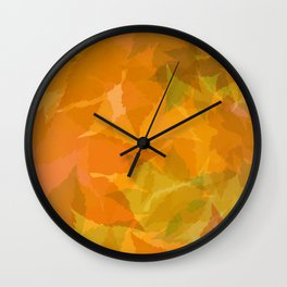 Autumn leaves pastel Wall Clock