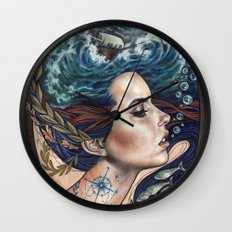 Lost At Sea Wall Clock