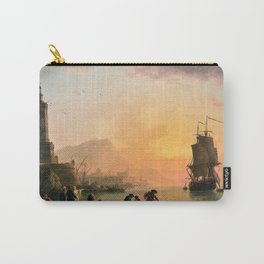 13,000px,500dpi-Claude Joseph Vernet - A Calm at a Mediterranean Port - Digital Remastered Edition Carry-All Pouch