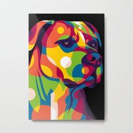 Pitbull Dog Metal Print