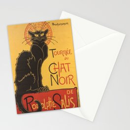 Soon, the Black Cat Tour by Rodolphe Salis Stationery Cards