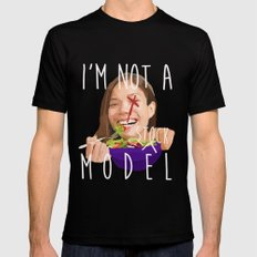 i'm not a (stock) model Mens Fitted Tee Black MEDIUM