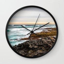 Volcanic Seascape in Fuerteventura at sunset Wall Clock