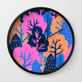 Colorful Forest Wall Clock