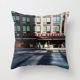 Westside Market Morning Reflection Throw Pillow
