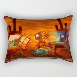 """Land Escape"" Rectangular Pillow"
