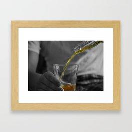 The Pour Framed Art Print