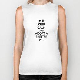 KEEP CALM AND ADOPT A SHELTER PET Biker Tank