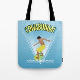 Cowabunga Flow-boarding Pop Art Tote Bag