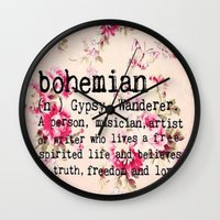 bohemian Wall Clocks featuring Bohemian by Luxe Glam Decor