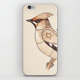 Clockwork Bird Waxwing iPhone Skin