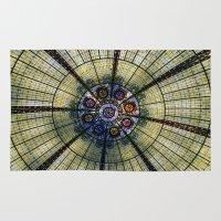 kaleidoscope Area & Throw Rugs featuring Kaleidoscope   by Laura George