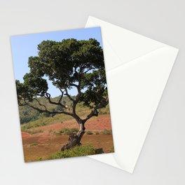 Lone Tree Indian Countryside Landscape, Odisha, India Stationery Cards