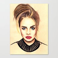 cara Canvas Prints featuring Cara. by Annie Mae Herring