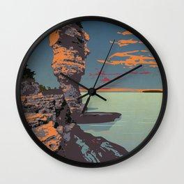 Fathom Five National Park Poster (Flowerpot Island) Wall Clock