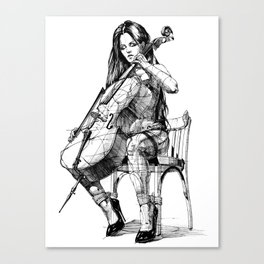 Cellist. Виолончелистка. Canvas Print