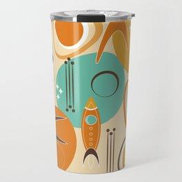 Retro Rocket Ships Asteroid Adventure Travel Mug